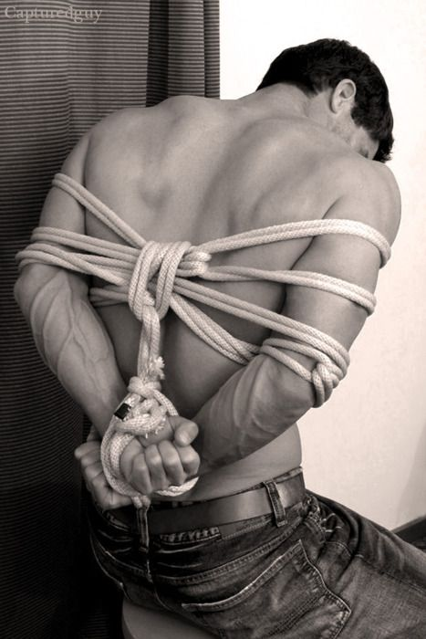 man in ropes